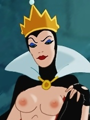 The sadistic Queen is decided to convert Snow White into her sex slave! She salivates as she tortures her pussy and sees it getting wet.